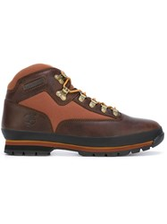 Timberland Lace Up Ankle Boots Brown