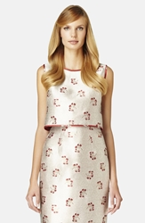 Erin Erin Fetherston 'Candy' Reversible Jacquard Crop Shell Champagne Ruby