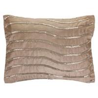 Gingerlily Silk Wave Cushion Taupe