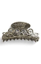 France Luxe 'Large Elysee' Jaw Clip Metallic Opera Silver