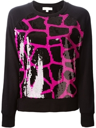 Michael Michael Kors Sequin Embellished Sweatshirt Black