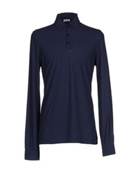 Malo Polo Shirts Dark Blue