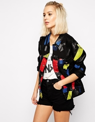 Cheap Monday Oversized Denim Jacket With Tape Detail Multi