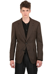 Cerruti Wool Canvas Jacket Brown