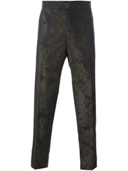 Roberto Cavalli 'Leo Camouflage' Tailored Trousers Black