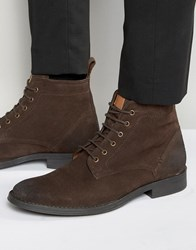 Dead Vintage Lace Up Boots Brown Suede Brown