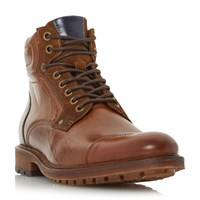 Bertie Clef Toecap Lace Up Boots Tan