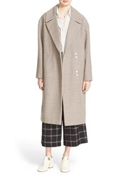 Tibi Women's Plaid Long Wool Blend Coat