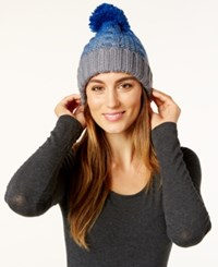 Rampage Colorblock Beanie Only At Macy's Grey Denim