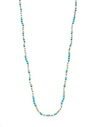 Chan Luu Sterling Silver Turquoise And Amazonite Necklace