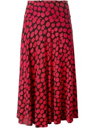 Missoni Vintage Dot Print Midi Skirt Red