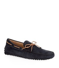 Tod's Laced Gommino Nubuck Driving Shoe Male