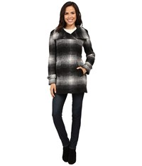 Calvin Klein Plaid Wool With Zip Closure And Sleeve Detail Plaid Women's Coat Multi