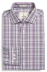 Todd Snyder Trim Fit Plaid Dress Shirt Stone Dust