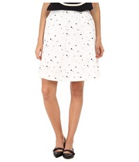 Marc By Marc Jacobs Splash Dot Stretch Poplin Full Circle Skirt Shorter White Multi