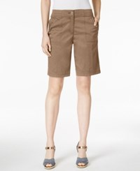 Karen Scott Bermuda Utility Shorts Only At Macy's Brass Iron