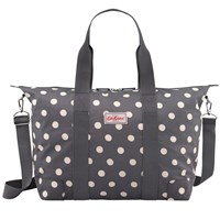 Cath Kidston Buttonspot Overnight Bag Charcoal