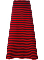 Sonia Rykiel Striped Skirt Red