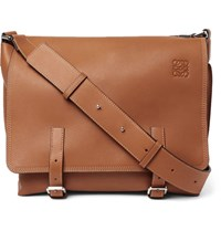 Loewe Military Leather Messenger Bag Tan