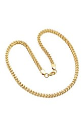 Steeltime Box Chain Necklace Yellow