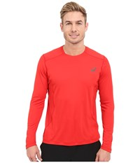 Asics Lite Show Long Sleeve Top Formula One Men's Long Sleeve Pullover Red