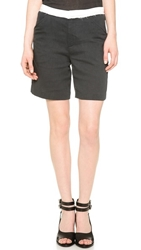 Band Of Outsiders Double Gauze Suiting Shorts Navy