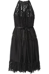 Temperley London Lily Lace And Organza Dress Black