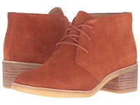 Clarks Phenia Carnaby Rust Vintage Suede Women's Lace Up Boots Brown