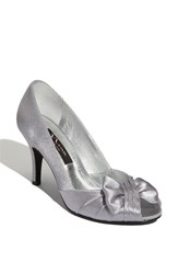 Women's Nina 'Forbes' Peep Toe Pump Royal Silver