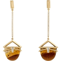 Monique Pean Geometric Long Drop Earrings