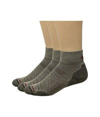 Smartwool Phd Outdoor Light Mini 3 Pack Oatmeal Crew Cut Socks Shoes Brown