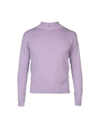 Edward Spiers High Neck Sweaters Lilac
