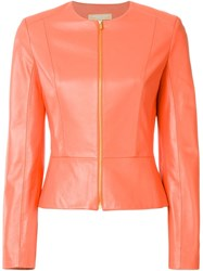 Michael Kors Fitted Jacket Pink And Purple