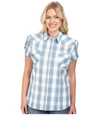 Roper Plus Size 0397 High Wire Plaid Blue Women's Clothing