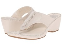 Hush Puppies Aven Copacabana Off White Leather Women's Sandals Beige