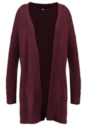 Bik Bok Lisa Cardigan Burgundy Dark Red