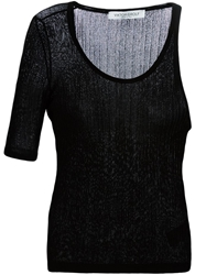 Viktor And Rolf Asymmetric Ribbed Knit Top