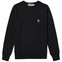 A Bathing Ape One Point Crew Knit Black