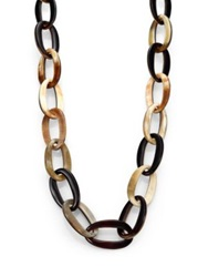 Nest Mixed Horn Link Necklace Horn Multi