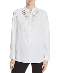 Kas Camille Embroidered Shirt Compare At 120 White