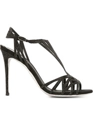 Rene Caovilla Strappy Sandals Black
