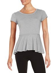 Kensie Sheer Knit Tee Stone