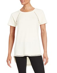 Context Crochet Trimmed Tee Ivory