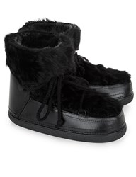 Inuikii Black Rabbit Fur Winter Boots