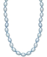 Honora Style Sky Blue Cultured Freshwater Pearl Necklace In Sterling Silver 7 8Mm