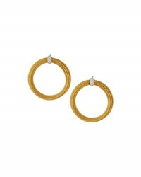 Alor Classique Micro Cable Circle Drop Earrings Yellow