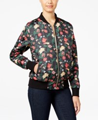 Say What Juniors' Floral Print Bomber Jacket