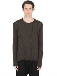 Isabel Benenato Patchwork Fine Wool Knit Sweater