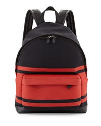 Givenchy Striped Neoprene Backpack Black Red