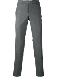 Thom Browne Contrast Detail Tailored Trousers Grey